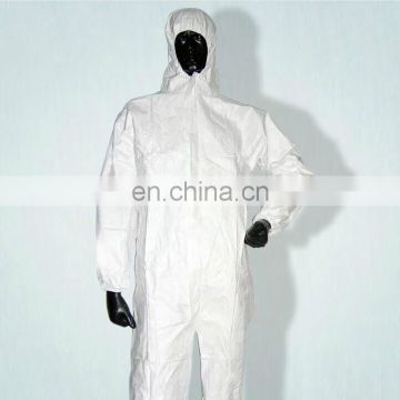disposable PP coverall with hood and elastic waist