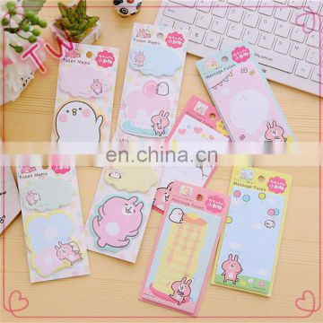 2018 China Supplier cheap custom office school fancy cute colorful paper sticky notes in Different Shapes