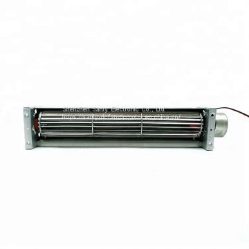 40*250mm 24V dc Sleeve Bearing High Speed 1800RPM Cross Flow Fan