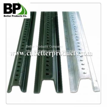 Galvanized steel u-channel sign ports
