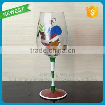 Merry Christmas Gift Glass Cup with Plastic Box Show Box Winter Gift Glass Goblet Drinking Wine Goblet Cup Glass