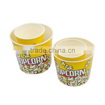 disposable custom printed paper popcorn bucket