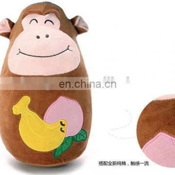 custom animal shape plush Roly Poly toy for baby