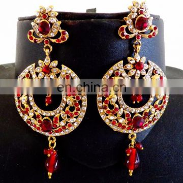Wholesale victorian earrings online-Bollywood fashion victorian earrings - Victorian Earrings - Victorian rhinestone earrings