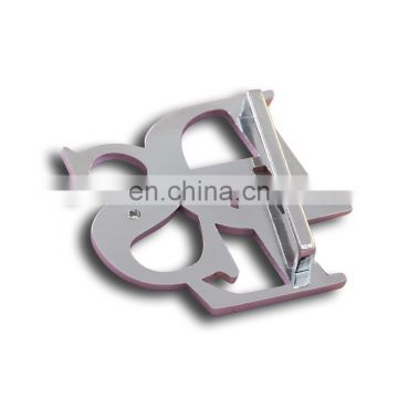 Custom metal letter belt buckle with customized logo
