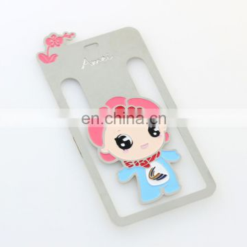 2017 cute customized plating hot sale metal bookmark
