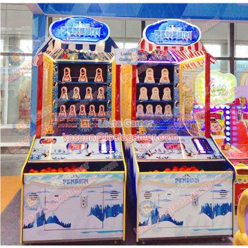Zhongshan amusement redemption coin operated hit the penguin ball throw game machine