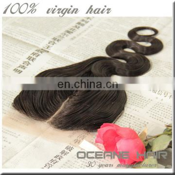No tangle free shedding wholesale price double drawn malaysian body wave closure