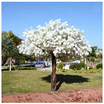 hot sale the newest china supplier artificial tree cherry tree decoration