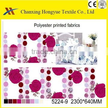 Woven Polyester bed sheet fabric with printing for quality turkish bedding sets/Designs for printed bedsheet