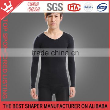 Men's Slimming thin models long-sleeved shirt abdomen pressure shaping underwear for man Y61                                                                                                         Supplier's Choice