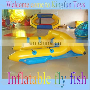 2014 air sealed inflatable water fly fish/ flying fish boat