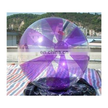Purple+clear water walking ball