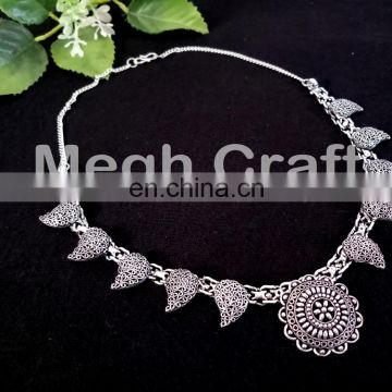 Indian Fushion Wear Navratri Necklace- Traditional Banjara oxidized Necklace