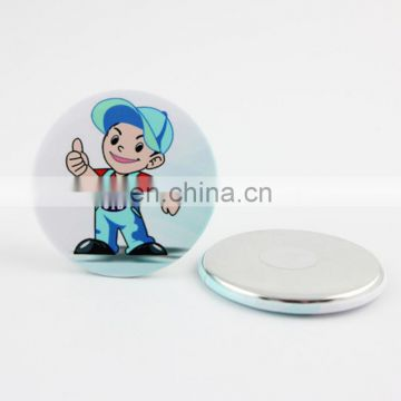 Factory price lovely design round magnet for Christmas decoration metal tin magnet holiday for children