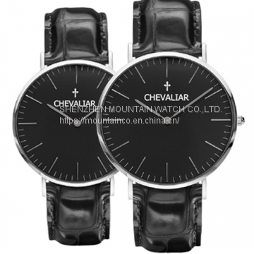 Genuine leather watch stainless steel watch fashion watch Ultra-thin watch