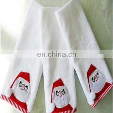 Christmas animated embroidery cotton hand towel
