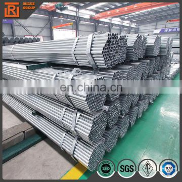 Factory selling 25mm galvanized steel pipe, thickness 1.4mm pre galvanized pipe
