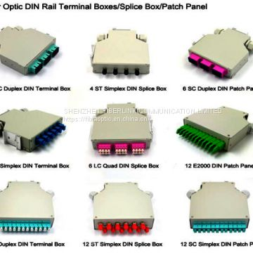 Industrial Din Rail Mount Fiber Splice Box