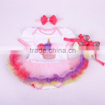 birthday party dresses for girls baby clothes 2016 kids pettiskirt set 0-24 month infant romper 2pcs set t-shirt fluffy tutus                                                                         Quality Choice