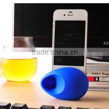 Novelty silicone cell phone sound amplifier or speaker