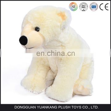 Factory wholesale white mini plush stuffed polar bear