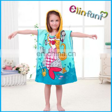 Elinfant Cartoon prints microfiber travel hooded baby towel
