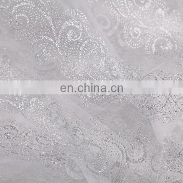 2015 Best Selling Items Wedding Dress Material Spraying Organza Fabric And Textile