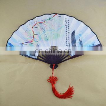 bamboo handle Chinese hand fan