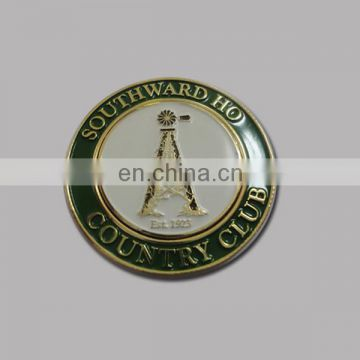 Metal magnetic coin golf ball marker with customzied logo