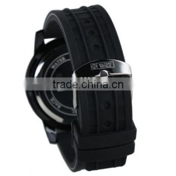 MR061 New Military Royale Mens Black Dial Rubber Band Army Watch