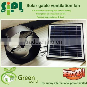 Vent tool new style solar panel dc wall fan solar power gable fan Residential Ventilation