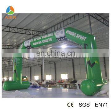 6x4m Green sport archway,finish line arches,cheap inflatable arch for sale