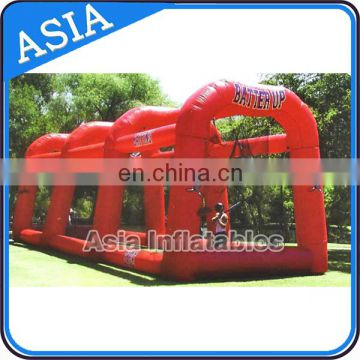 PVC Tarpaulin Inflatable Paintball Tent / Inflatable Paintball Field For Sports