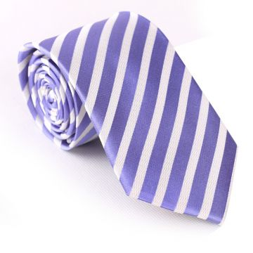 Silver Classic Strips Mens Jacquard Neckties Mens Suit Accessories Classic Strips