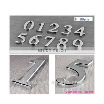 High quality sheet metal stamped aluminum decorative door numbers