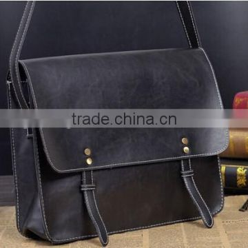 Hot Sale Mens Leather Messenger Bag Shoulder Briefcase Casual Laptop Business Messenger Bag