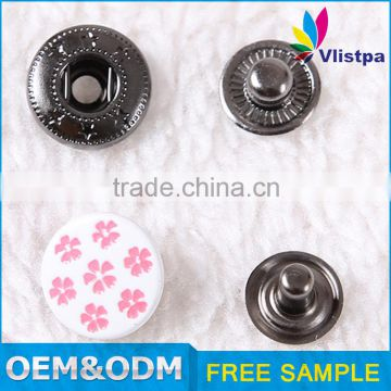 Free sample !Eco-Friendly round custom metal engraved magnetic cloth snap button for jacket