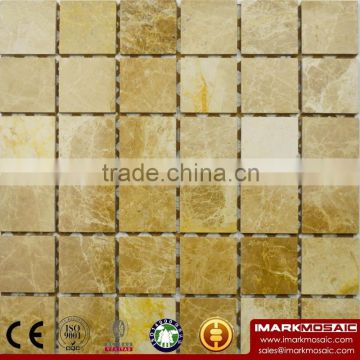 IMARK Polished Giallo Atlantide Marble Stone Mosaic Tile Backsplash Tile for Wall Decoration Code IVM7-022
