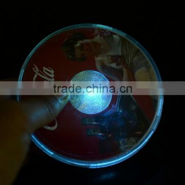 2016 new product promotional led coaster/ led sticker coaster for the party/events