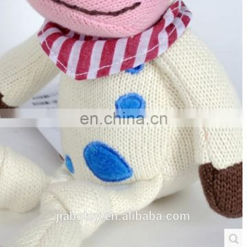 Hand Knitted cow soft toy 100% pure Crochet knit Toys baby Dolls 30cm promotional factory new design