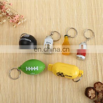 New arrival china product 3D pvc bottle key chain ring for wholesale