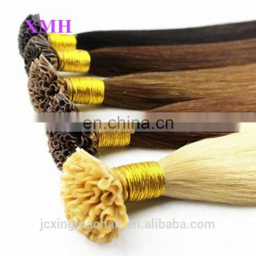 Best Quality Keratin Tip 100% Remy Human Hair U Tip Hair Extension Wholesale 0.5-1g/Strand Nail Tip Hair