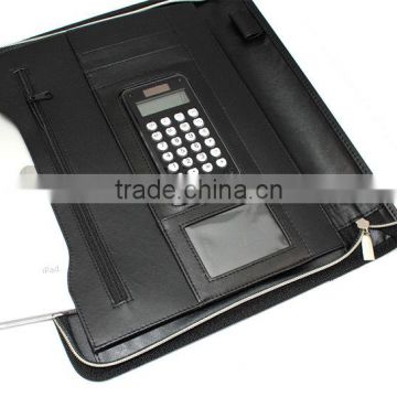 2015 hot new leather portfolio with notepad