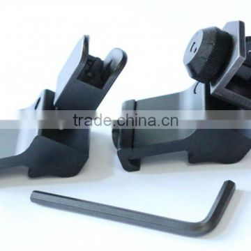 SUNGUN MTS4034-S 45 degree Angled Flip Up Front and Rear Sights Set, Steel sights(45 degree Angled sights)