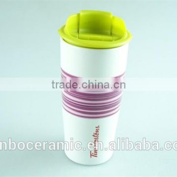 e96871d8aac Ceramic coffee mug without handle with silicone lid / band, tall ceramic  mugs of Mug from China Suppliers - 142302810