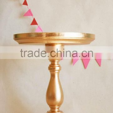 gold metal shiny cake stand for wedding & party favour