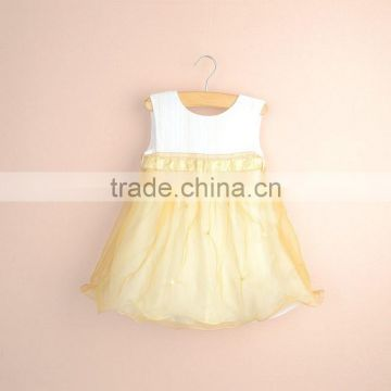 R&H summer sleeveless cotton lining designer one piece party dress baby dress cutting