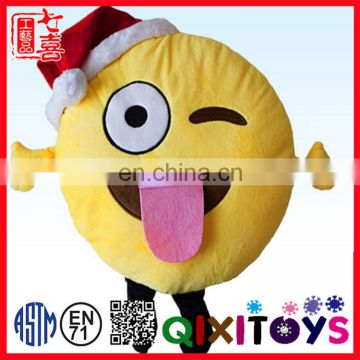 china manufacturer promotional fashion funny emoji plush pillow with legs and arms