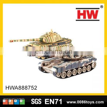 New 8 channel remote control plastic toys the fighting rc tank
